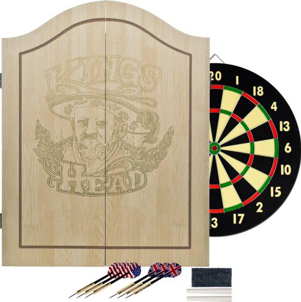 Trademark Games King S Head Dartboard Cabinet Set Dick S