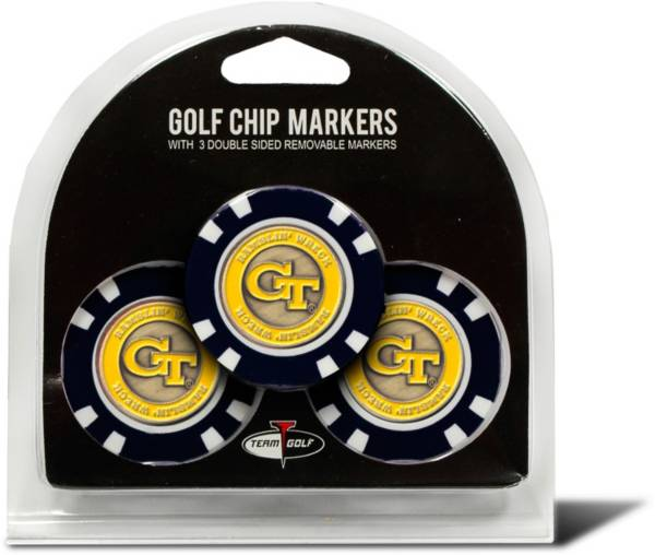 Team Golf Georgia Tech Yellow Jackets Poker Chips Ball Markers - 3-Pack product image