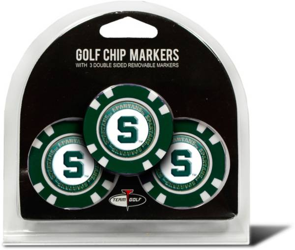 Team Golf Michigan State Spartans Poker Chips Ball Markers - 3-Pack product image