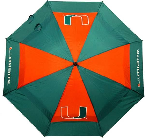 "Team Golf Miami Hurricanes 62"" Double Canopy Umbrella product image"