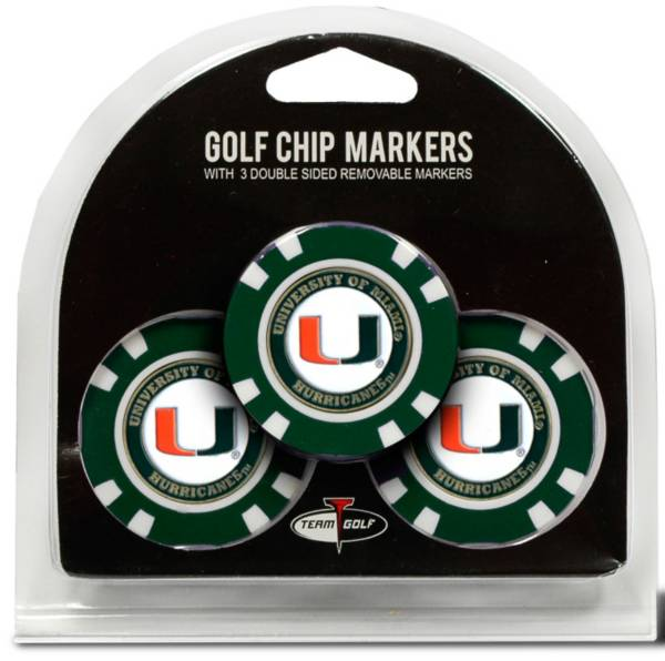 Team Golf Miami Hurricanes Poker Chips Ball Markers - 3-Pack product image
