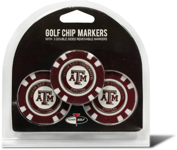 Team Golf Texas A&M Aggies Poker Chips Ball Markers - 3-Pack product image