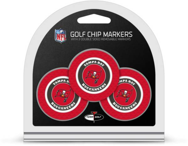 Team Golf Tampa Bay Buccaneers Poker Chips Ball Markers - 3-Pack product image