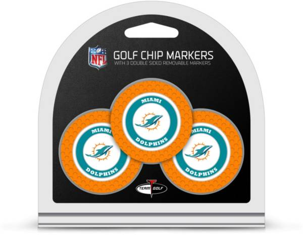 Team Golf Miami Dolphins Poker Chips Ball Markers - 3-Pack product image