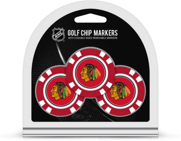 Team Golf Chicago Blackhawks Poker Chips Ball Markers - 3-Pack product image