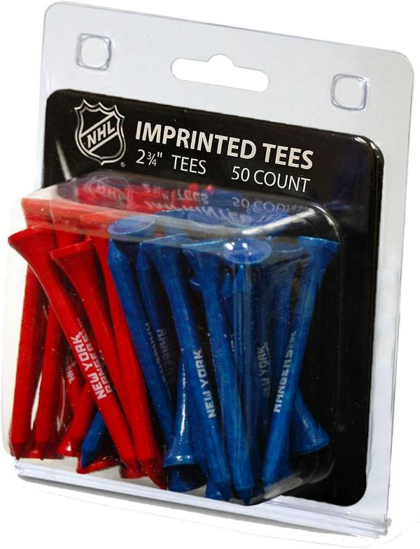 "Team Golf New York Rangers 2 3/4"" Golf Tees - 50 Pack product image"