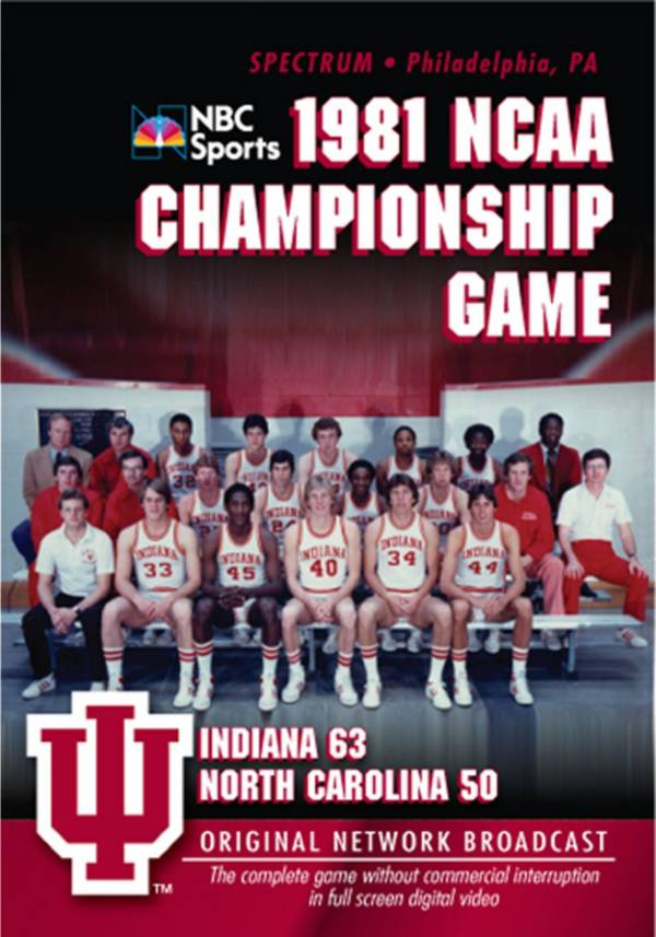 1981 NCAA Men's Basketball National Championship Game: Indiana vs. UNC DVD product image