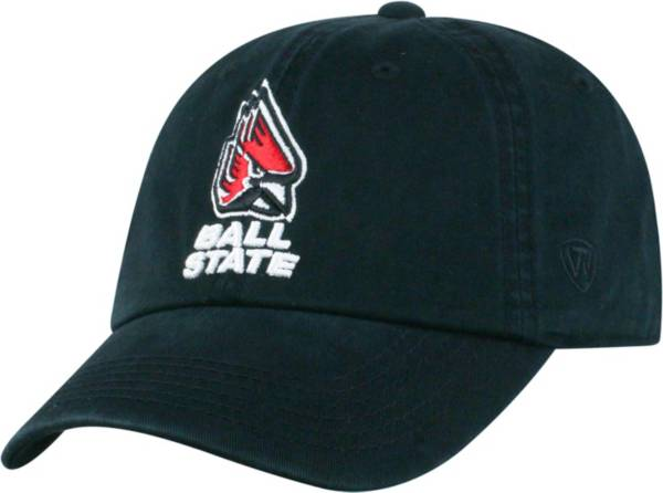 Top of the World Men's Ball State Cardinals Black Crew Adjustable Hat product image