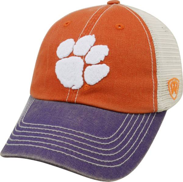 Top of the World Men's Clemson Tigers Orange/White/Regalia Off Road Adjustable Hat product image