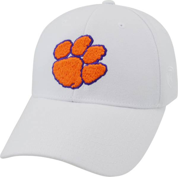 Top of the World Men's Clemson Tigers White Premium Collection M-Fit Hat product image