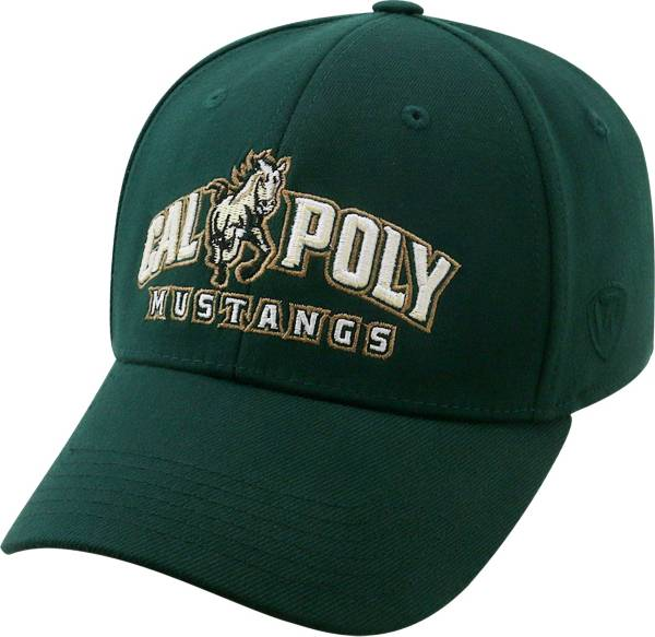 Top of the World Men's Cal Poly Mustangs Green Premium Collection M-Fit Hat product image