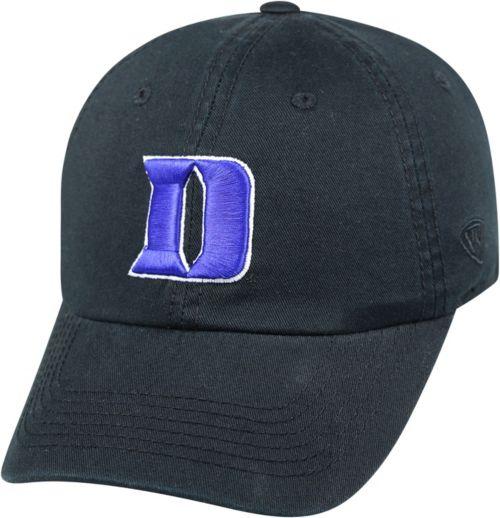 Top of the World Men s Duke Blue Devils Duke Crew Black Adjustable ... ff38fd0986b