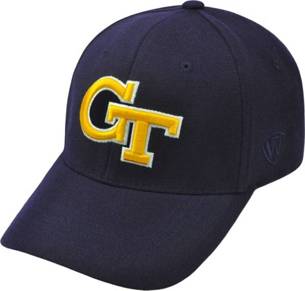 Top of the World Men's Georgia Tech Yellow Jackets Navy Premium Collection M-Fit Hat product image
