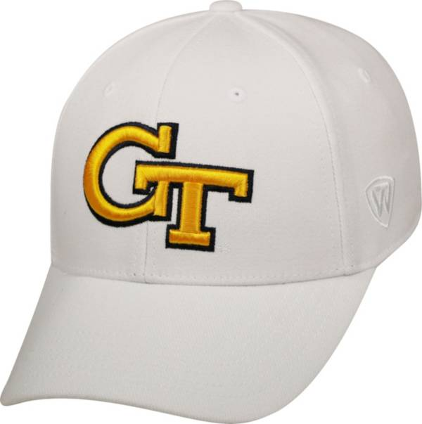 Top of the World Men's Georgia Tech Yellow Jackets White Premium Collection M-Fit Hat product image