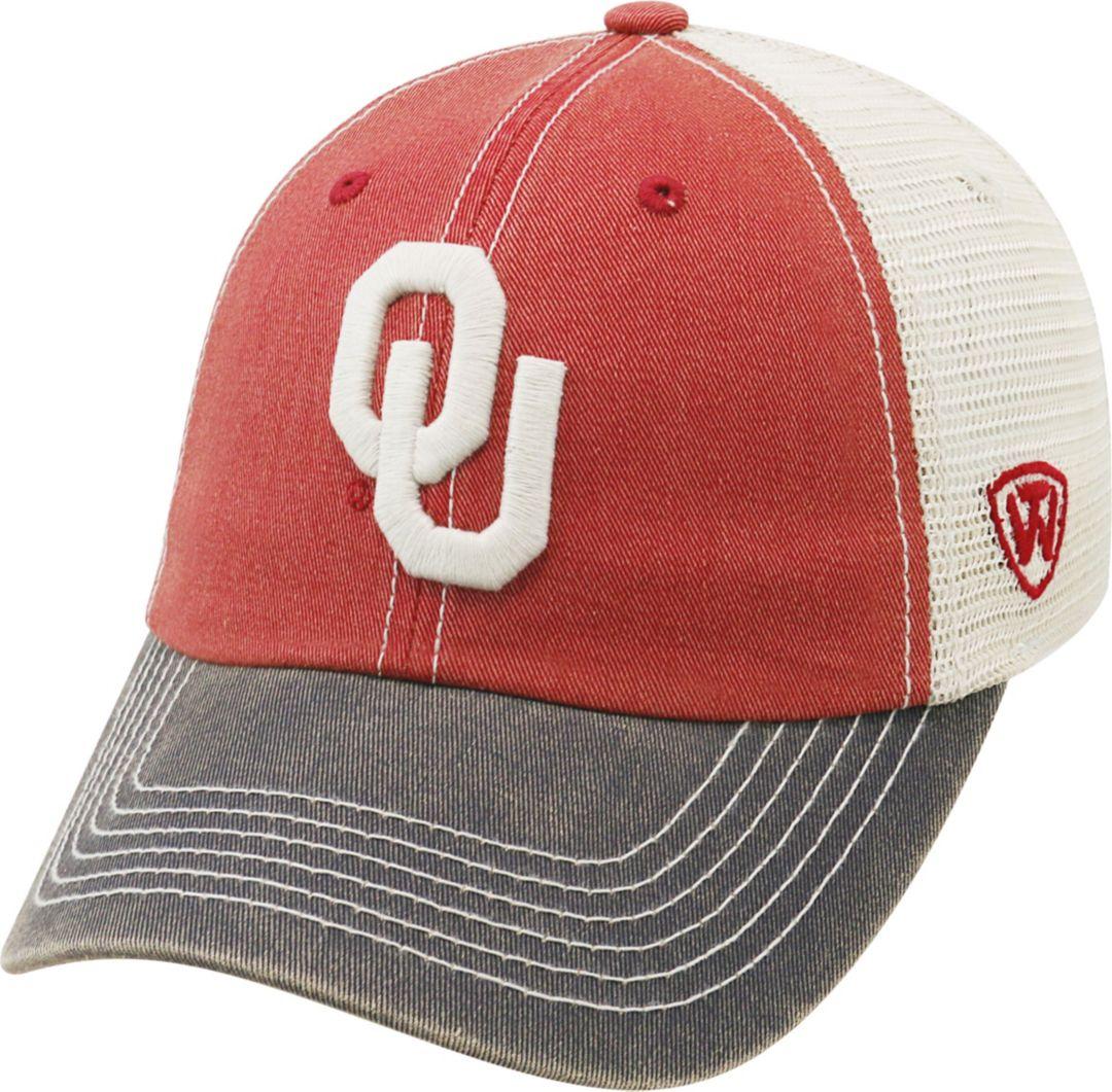 buy popular 92d32 fb1b9 Top of the World Men s Oklahoma Sooners Crimson Cream Grey Off Road  Adjustable Hat. noImageFound. Previous