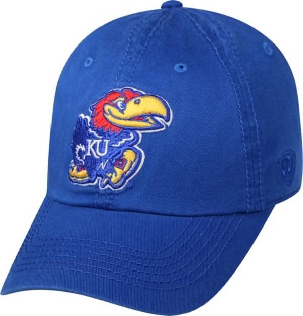 Top of the World Men's Kansas Jayhawks Blue Crew Adjustable Hat product image