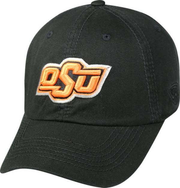 Top of the World Men's Oklahoma State Cowboys Black Crew Adjustable Hat product image