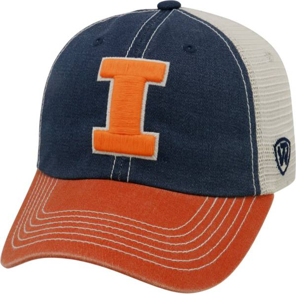 Top of the World Men's Illinois Fighting Blue/White/Orange Off Road Adjustable Hat product image