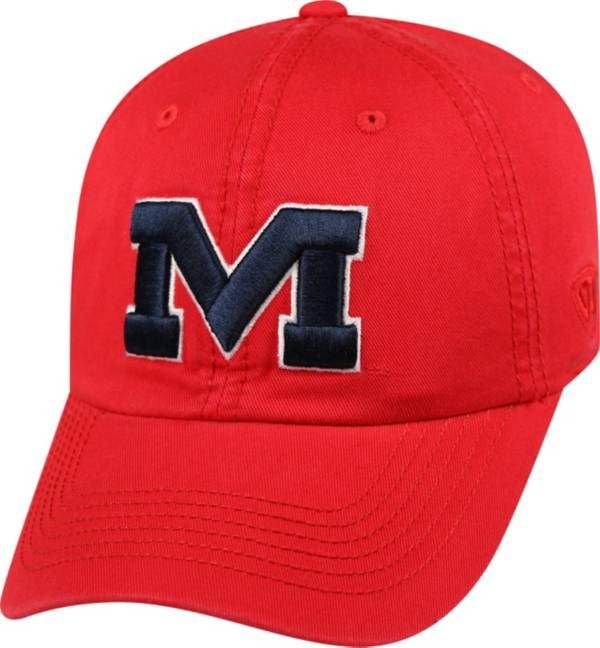 Top of the World Men's Ole Miss Rebels Red Crew Adjustable Hat product image