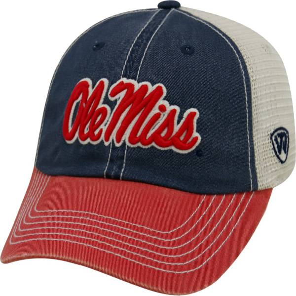 Top of the World Men's Ole Miss Rebels Blue/White/Red Off Road Adjustable Hat product image