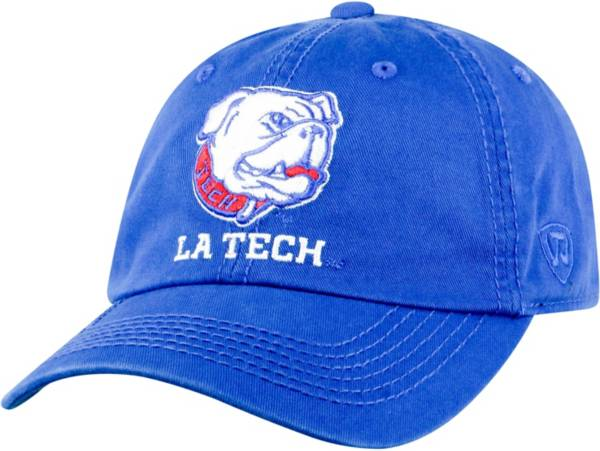 Top of the World Men's Louisiana Tech Bulldogs Blue Crew Adjustable Hat product image