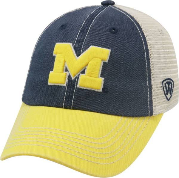Top of the World Men's Michigan Wolverines Blue/White/Maize Off Road Adjustable Hat product image
