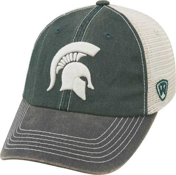 Top of the World Men's Michigan State Spartans Green/White/Black Off Road Adjustable Hat product image