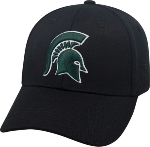 purchase cheap 597b1 94fad Top of the World Men s Michigan State Spartans Black Premium Collection  M-Fit Hat. noImageFound. Previous