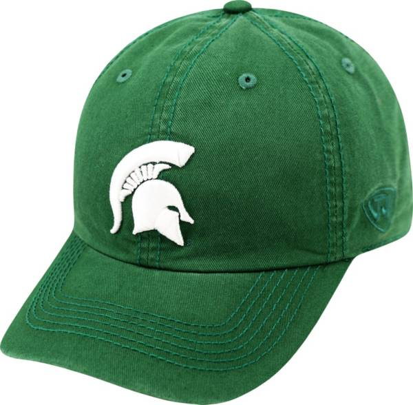Top of the World Men's Michigan State Spartans Green Crew Adjustable Hat product image