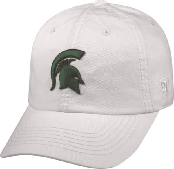 Top of the World Men's Michigan State Spartans White Crew Adjustable Hat product image