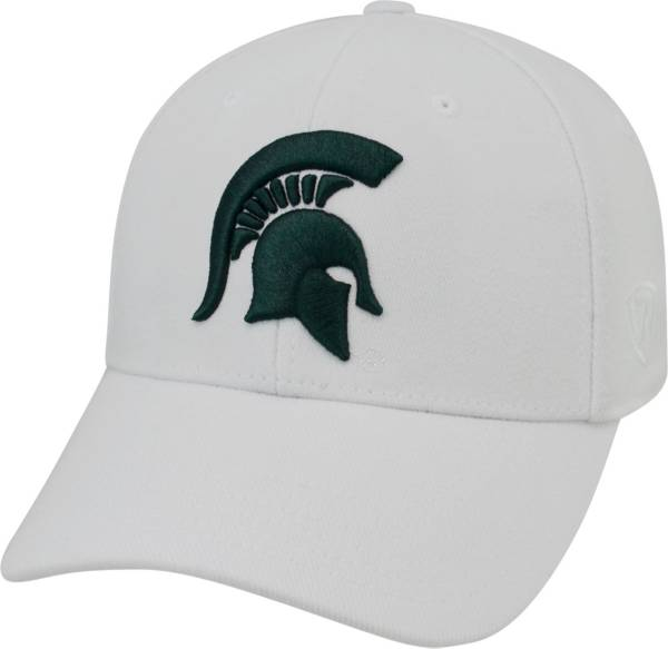 Top of the World Men's Michigan State Spartans White Premium Collection M-Fit Hat product image