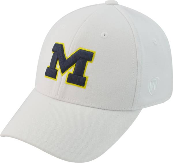 Top of the World Men's Michigan Wolverines White Premium Collection M-Fit Hat product image