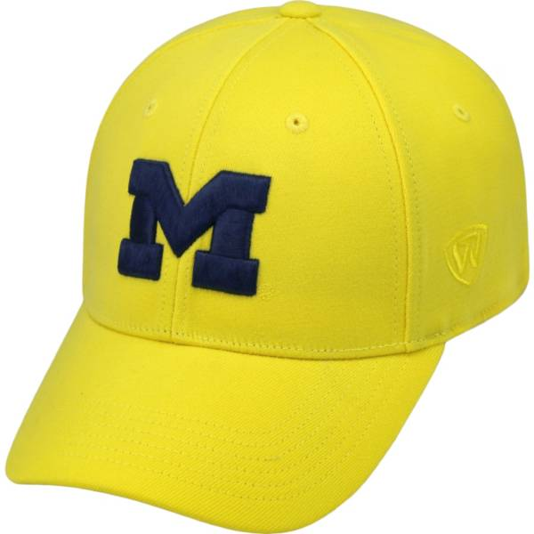 Top of the World Men's Michigan Wolverines Maize Premium Collection M-Fit Hat product image