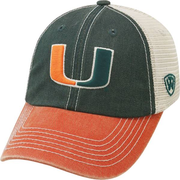 Top of the World Men's Miami Hurricanes Green/White/Orange Off Road Adjustable Hat product image