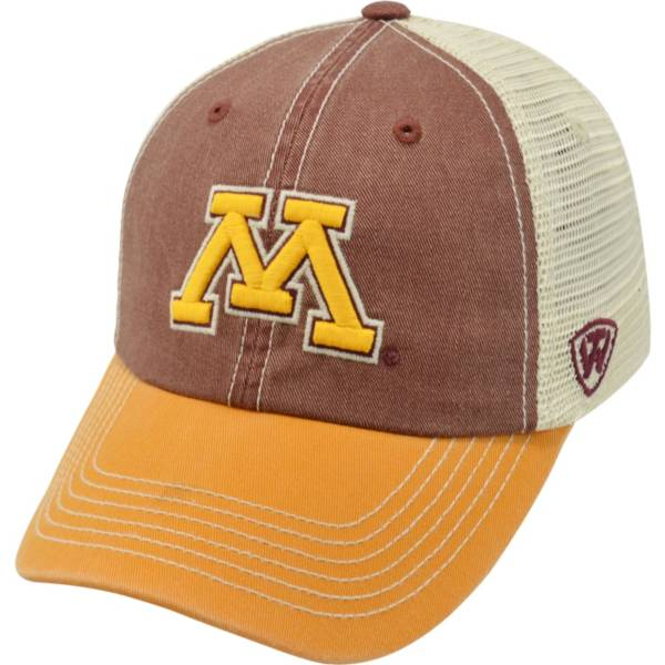 Top of the World Men's Minnesota Golden Gophers Maroon/White/Gold Off Road Adjustable Hat product image