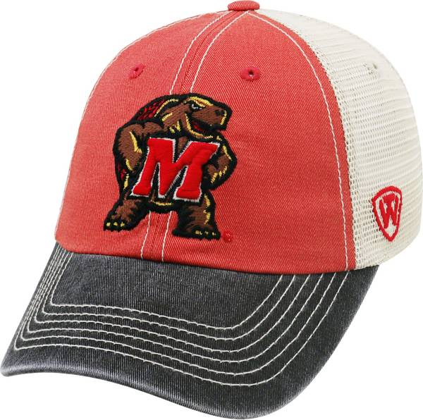 Top of the World Men's Maryland Terrapins Red/White/Black Off Road Adjustable Hat product image
