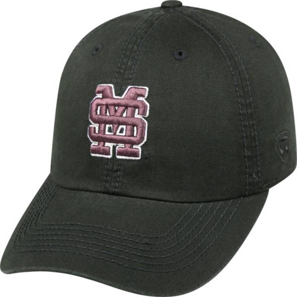 Top of the World Men's Mississippi State Bulldogs Black Crew Adjustable Hat product image