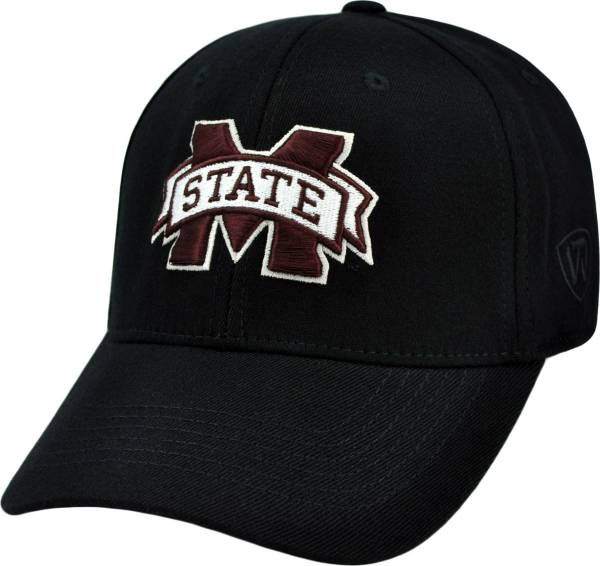 Top of the World Men's Mississippi State Bulldogs Black Premium Collection M-Fit Hat product image