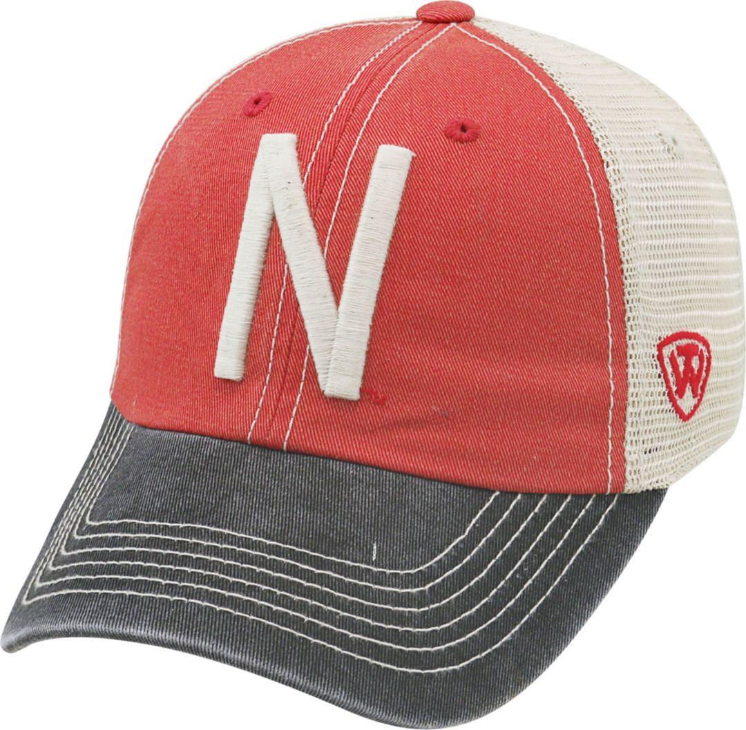e210d01f Top of the World Men's Nebraska Cornhuskers Scarlet/White/Black Off Road  Adjustable Hat
