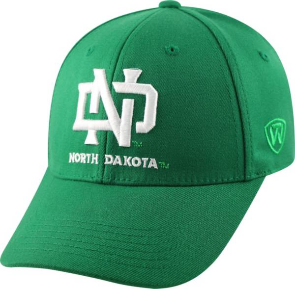 Top of the World Men's North Dakota Fighting Hawks Green Premium Collection M-Fit Hat product image