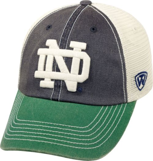 Top of the World Men s Notre Dame Fighting Irish Navy White Green Off Road  Adjustable Hat. noImageFound. Previous d0ed8e7a757a