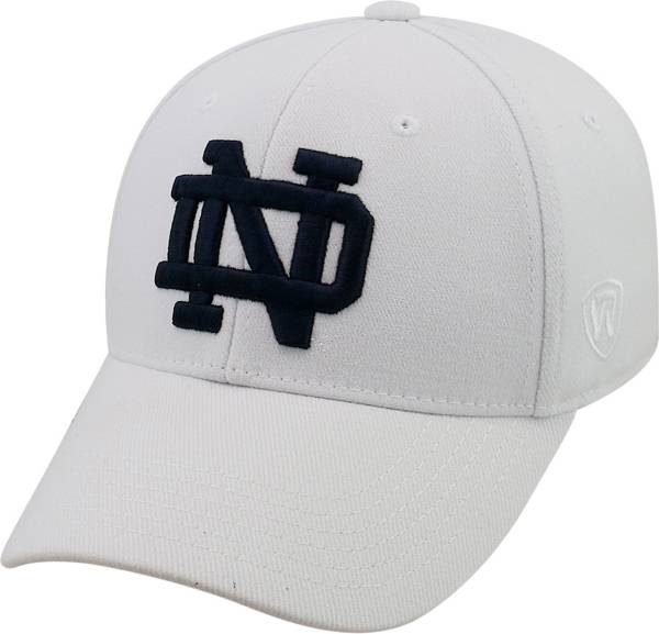 Top of the World Men's Notre Dame Fighting Irish White Premium Collection M-Fit Hat product image