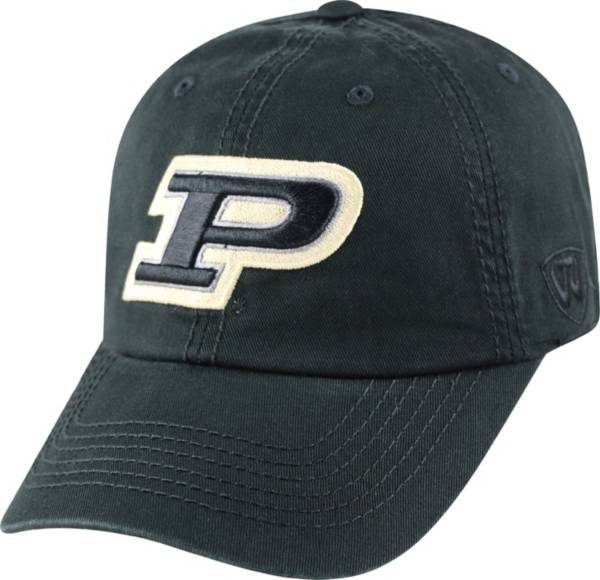 Top of the World Men's Purdue Boilermakers Black Crew Adjustable Hat product image