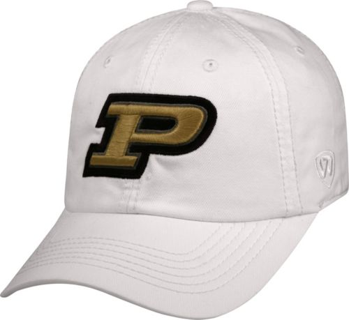 separation shoes 02925 ab225 Top of the World Men s Purdue Boilermakers White Crew Adjustable Hat.  noImageFound. Previous. 1