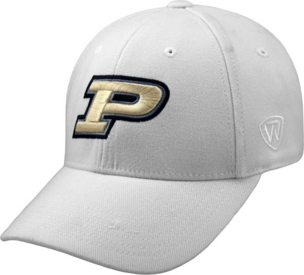 Top of the World Men's Purdue Boilermakers White Premium Collection M-Fit Hat product image