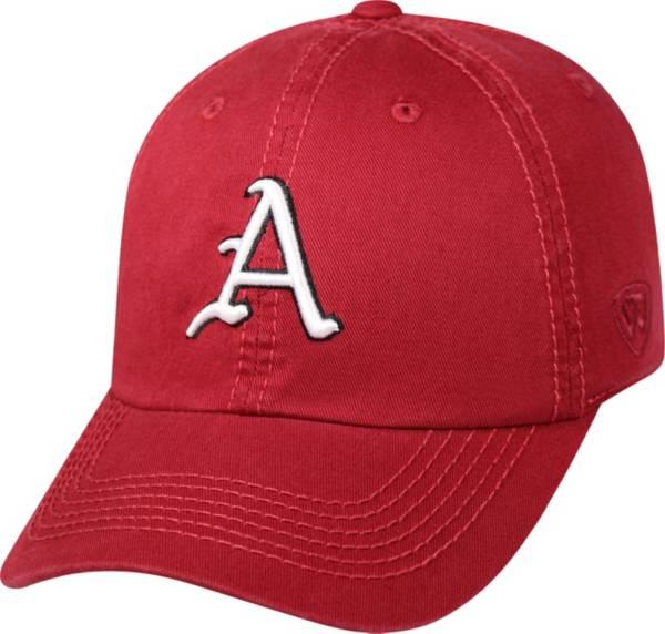 Top of the World Men's Arkansas Razorbacks Cardinal Crew Adjustable Hat product image