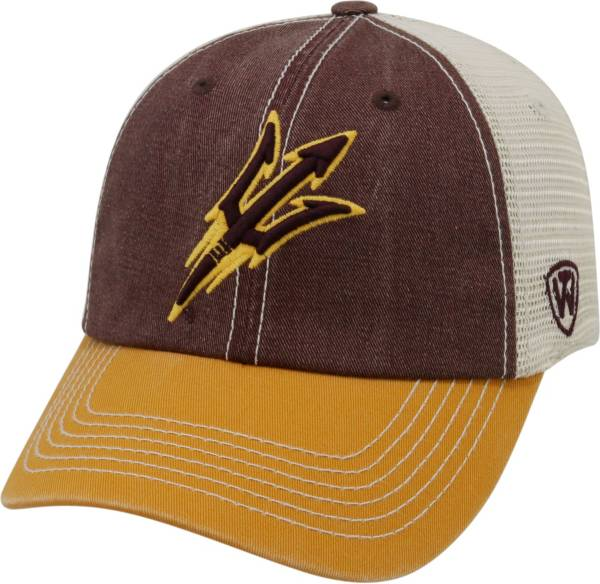 Top of the World Men's Arizona State Sun Devils Maroon/White/Gold Off Road Adjustable Hat product image
