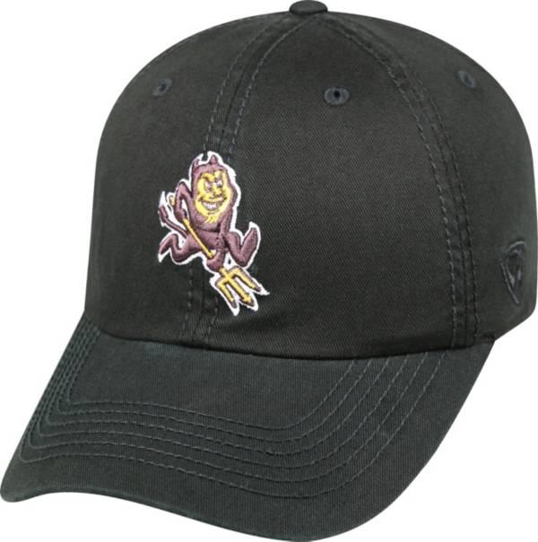 Top of the World Men's Arizona State Sun Devils Black Crew Adjustable Hat product image
