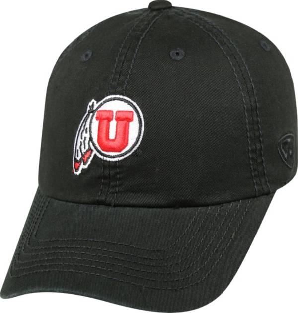 Top of the World Men's Utah Utes Black Crew Adjustable Hat product image