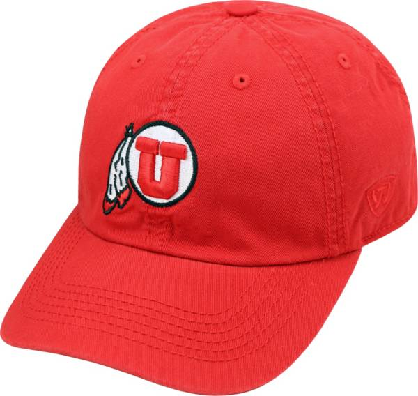 Top of the World Men's Utah Utes Crimson Crew Adjustable Hat product image